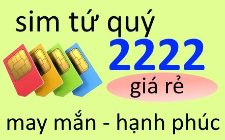 Sim tứ quý 2222 mang tài lộc cho những người mệnh gì?